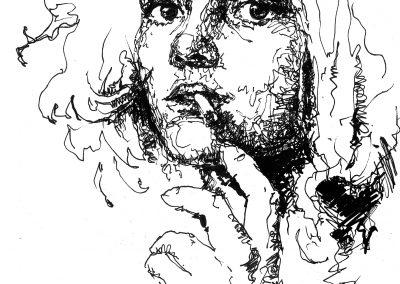 Pen on paper - Teresa